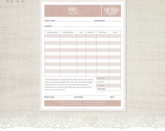 prints order form template for photographers photographer business client forms f02