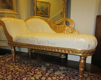 SWAN FAINTING COUCH