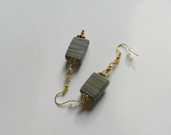 Wood Marble Earrings A11643