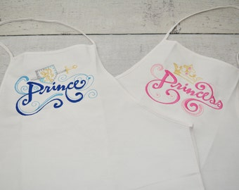 Prince and Princess Adult Aprons