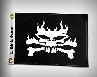 Bad Ass Skull and Bones Flag