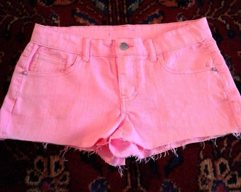 Hot Pink Denim Shorts Daisy Dukes