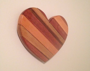 Wooden Heart wall hanging home decor. Rustic reclaimed wood.