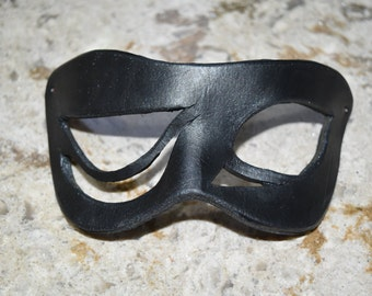 Asymmetrical creepy Leather mask - this one available now
