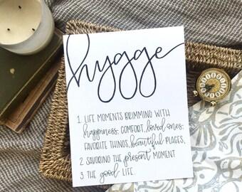 Hygge Print | Hygge Life | Coziness | The Good Life
