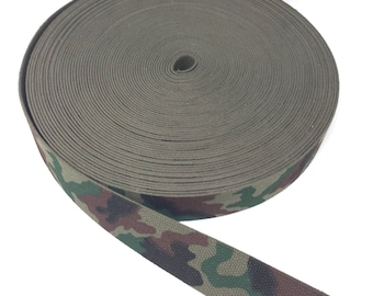 Cotton Polyester Webbing 2 Inches - Army Green