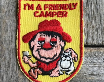 I'm a Friendly Camper Vintage Travel Souvenir Patch from Voyager