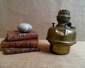 French antique petrol oil lamp vintage Gladiator lamp kerosene shabby chic decoration original brass lamp