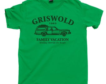 Griswold Family Vacation T Shirt Clark W Griswold Sparky Wagon Queen Family Truckster Marty Moose Walley World Cousin Eddie John Hughes Tee