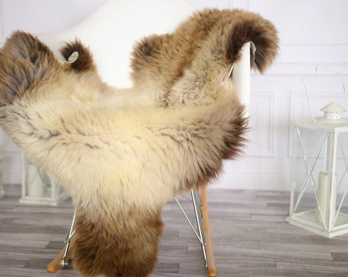 Sheepskin Rug   Real Sheepskin Rug   Shaggy Rug   Chair Cover   Sheepskin Throw   Brown Beige Sheepskin   Home Decor   #Apriher44