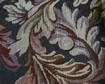 17 Tapestry like upholstery fabric in a lovely leaf pattern Nice colors