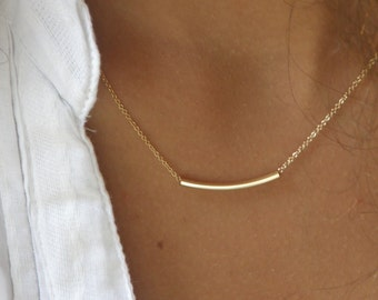 The Original Golden Bar -Very Elegant and Delicate Necklace- Statement Jewelry  - By SimaG