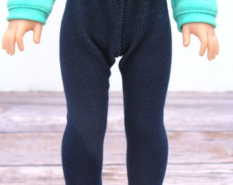 Fits like Wellie Wishers Doll Clothes - Light Denim Blue Jeggings | 14.5 Inch Doll Clothes