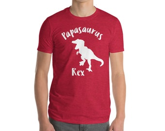 Papasaurus Rex T Shirt Mens New Fathers Day Gift To Daddy Pregnancy Announcement Dinosaur Tshirt