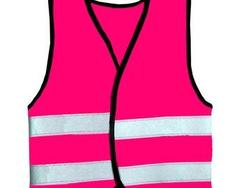 Baby Hot Pink Vests  Reflective Waistcoat Hi Visibility Baby Sports Safety
