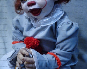 pennywise costume 2017 pennywise the clown pennywise cosplay it pennywise clown costume baby kids toddler costume halloween costume clown