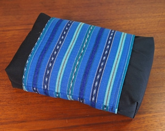 Organic Buckwheat Neck & Back Pillow with Hand Woven Fair Trade Guatemalan fabric Cover
