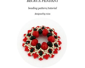 Becrux Pendant - Beading Pattern/Tutorial - PDF file for pesonal use only