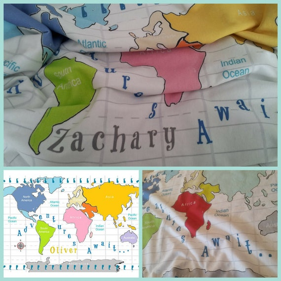 Personalized Adventures Await Organic Cotton Blanket Single Layer 24x30 / 32x50 Baby Swaddle, Toddler Blanket