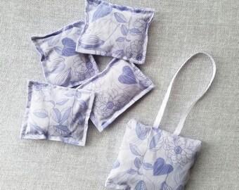 Lavender Sachet Set, Dresser Sachet, Sachet Set, Hanging Sachet, Drawer Freshener, Closet Freshener, Gift for Her, Organic Lavender