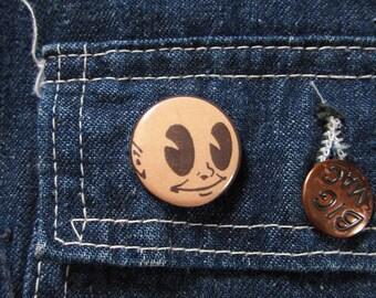 """Memory Vintage Lapel Pin Round Advertising Pinback 1"""" Memory Man"""