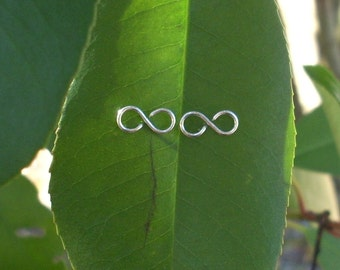 Sterling Silver Infinity Post Earrings. Sterling Silver Infinity Earrings. Sterling Silver Infinity Jewelry. Silver Infinity Earrings