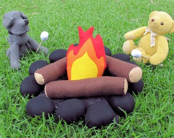 Felt Campfire, Child's Tent Accessory, Play Campfire, Indoor Play. T pee Toy, Pretend Play Toy