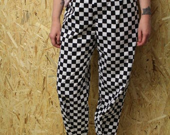 Unisex Tomboy Checkered Trousers