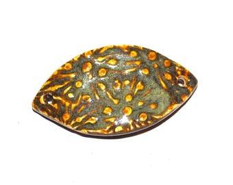 Ceramic Bracelet Bar Floral Handmade Stoneware Pottery