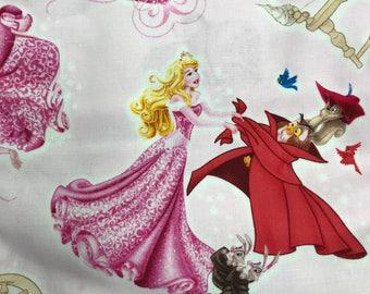 "Fabric Cloth Remnant Disney Princess Sleeping Beauty 30""x43"""