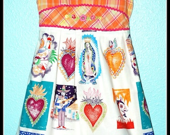 Girls Rockabilly Dress in Day of the Dead Spanish Scenes ........Size 8