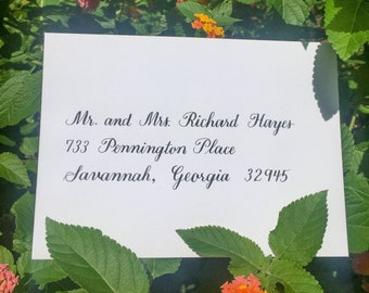 Envelope Calligraphy for Weddings or Events