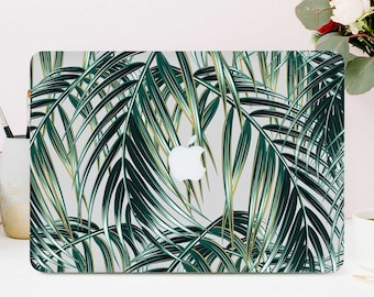 Palm Leaves Macbook Case Macbook pro 13 Case Macbook Air 13 Case Macbook Pro Case Tropical Leaves Case Clear Macbook Case Laptop 1 CGD2001