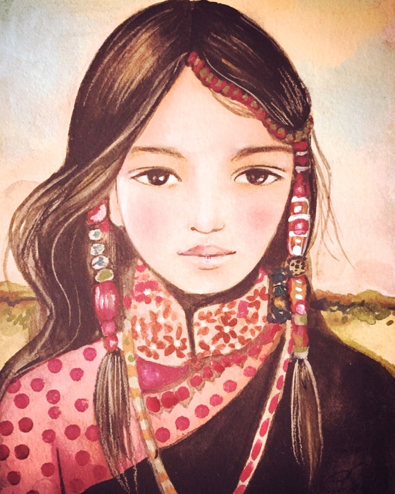 Serenah art print tibet inspired