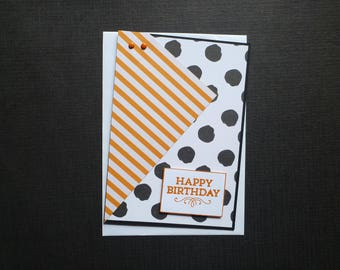 Bright and Bold Birthday Card  FREE SHIPPING