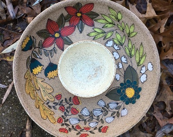 MADE TO ORDER ~ Chip and Dip Serving Bowl
