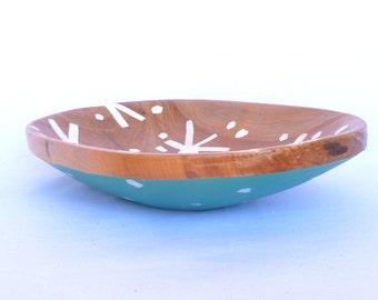 UPCYLED WOOD BOWL/ Hand made bowl/ ooak Wood Bowl
