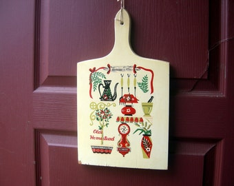Vintage cutting board home decor shabby chic cottage chic