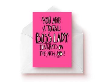 New Job Card / Boss Lady Card / Girl Power / Funny New Job Card / Gift For New Job / Cards / Girl Boss / Girl Power / New Job Present