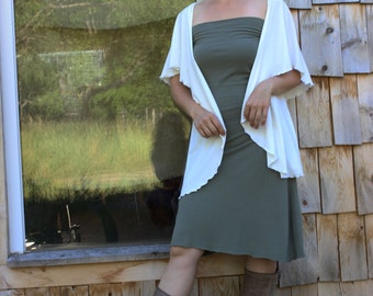 Maya Shrug Vest - Organic Fabric - Made to Order - Many Colors Available