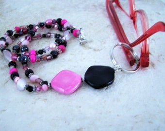 Beaded Necklace For Glasses, Womens Gift Idea