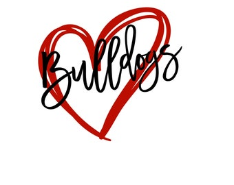 Bulldogs Heart SVG/DXF