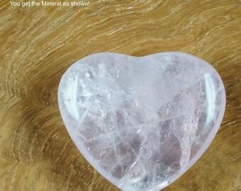 Rose Quartz Heart 18g 35mm