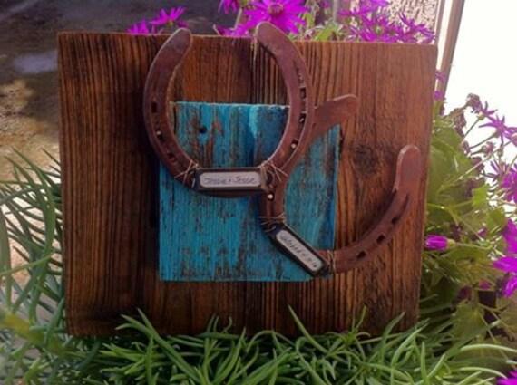 Cowboy Wedding Gifts: Western Decor Wedding Gift Personalized Cowboy Horseshoe