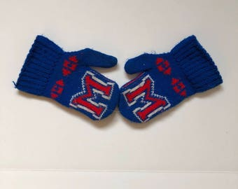 Vintage Letter M Knit Mittens Toddler