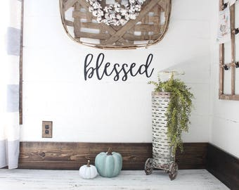 blessed Sign Gallery Wall Sign Farmhouse Gallery Wall Blessed