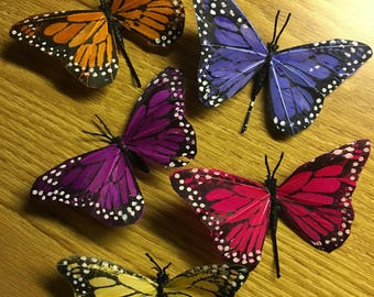 Butterfly Hair Clips, Butterfly Hair Pins, Butterfly Bobby Pins, Realistic Butterfly Hair Accessory, Colorful Butterfly Clips, Hair Clips