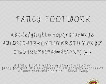 Fancy Footwork - TTF Font