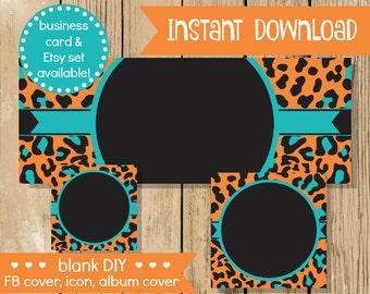 Blank diy facebook set aqua paisley do it yourself blank blank diy facebook set orange teal leopard do it yourself blank facebook cover solutioingenieria Gallery