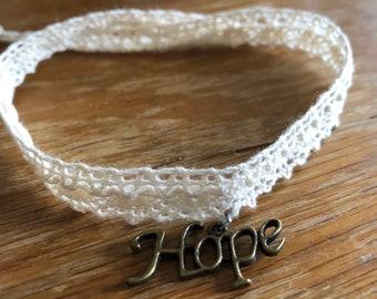 Lace charm bracelet
